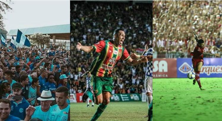 (Foto: Instagram/ Confiança, Lucas Almeida/ Sampaio FC e Alexandre Gondim/ JC Imagem)