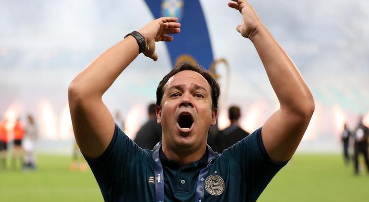 Dado Cavacanti, campeão da Copa do Nordeste 2021, anuncia saída do Bahia - Foto: Felipe Oliveira/EC Bahia